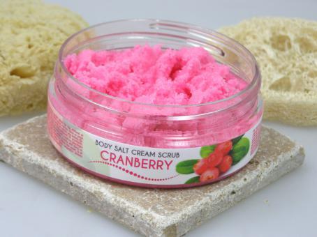 Salz Creme Peeling Cranberry